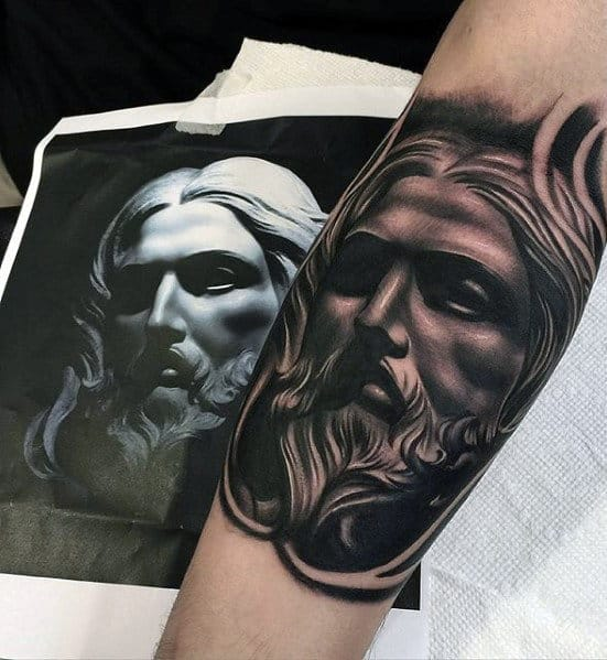 Jesus Forearm Tattoo Designs