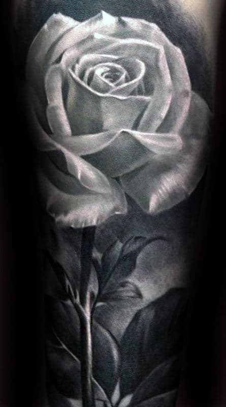 Roses Tattoo Black And White : roses, tattoo, black, white, Realistic, Tattoo, Designs, Floral, Ideas