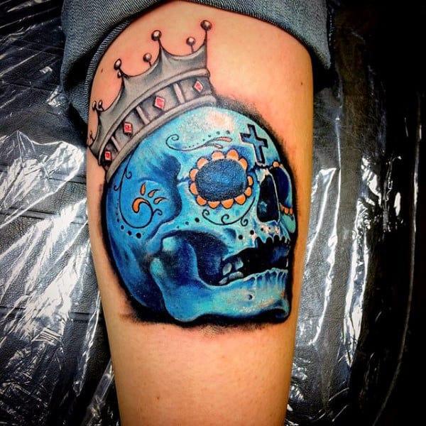 20 Candy Skull Tattoos Men Ideas And Designs