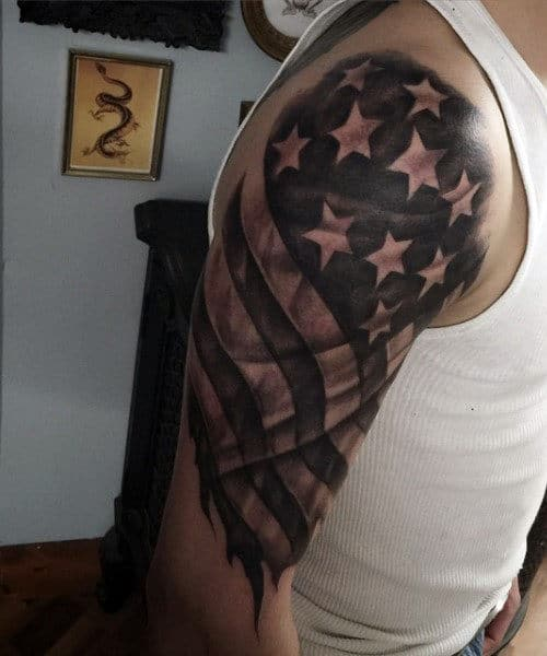 American Flag Sleeve Tattoos : american, sleeve, tattoos, American, Tattoo, Ideas, [2021, Inspiration, Guide]