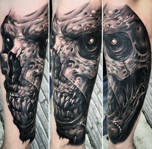 demon tattoos men - devilish