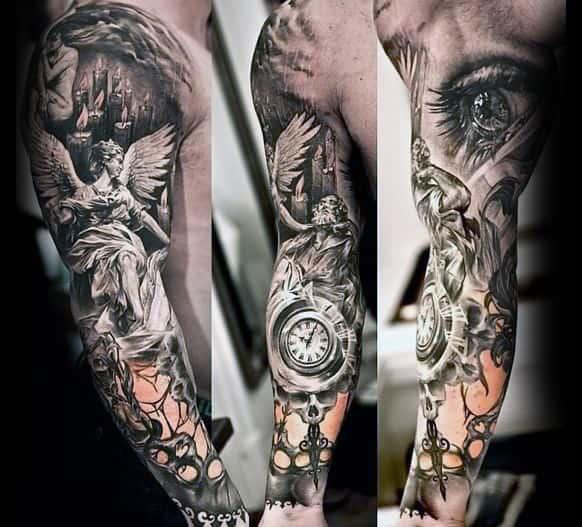 unique sleeve tattoos men