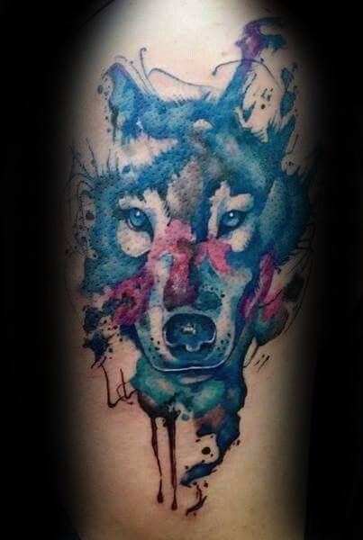 Arm Watercolor Tattoo For Men