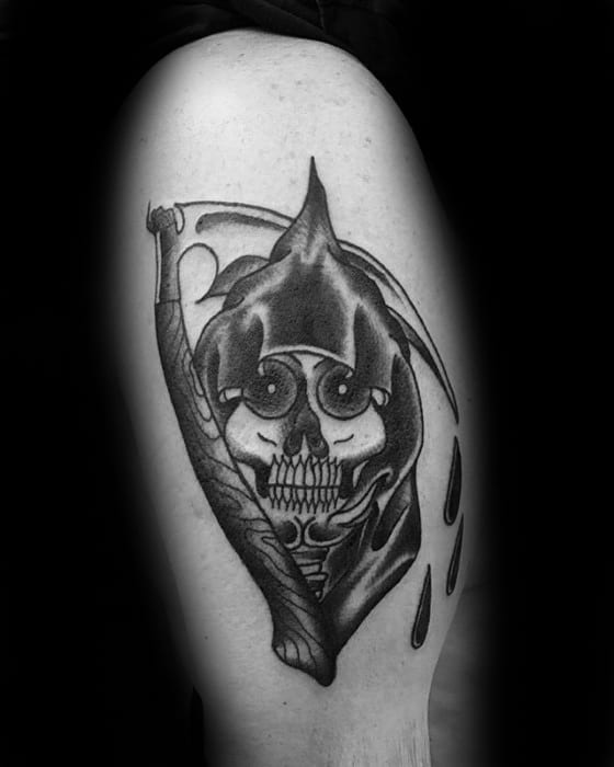 Traditional Reaper Tattoos : traditional, reaper, tattoos, Traditional, Reaper, Tattoo, Designs, Ideas