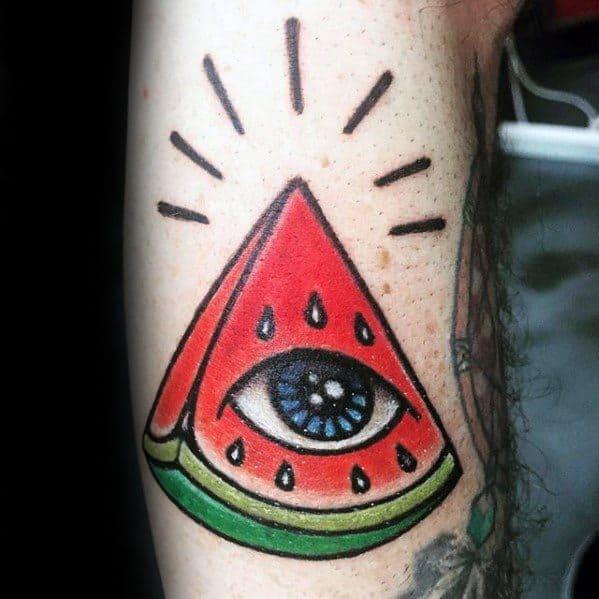 30 Watermelon Tattoo Designs For Men Fruit Ink Ideas