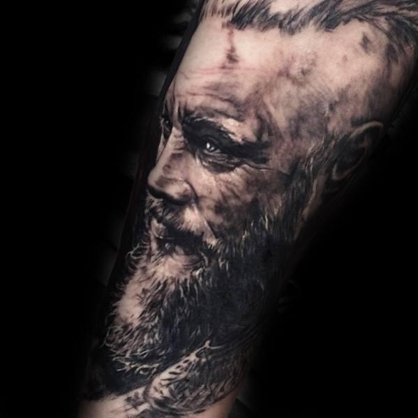 Tattoo Bear Open Mouth
