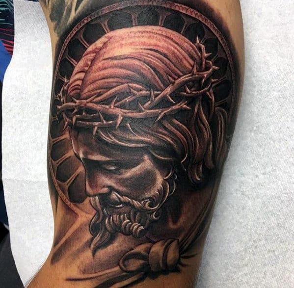Jesus Christ Tattoo Shoulder