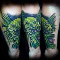 90 Frog Tattoos For Men - Amphibian Design Ideas