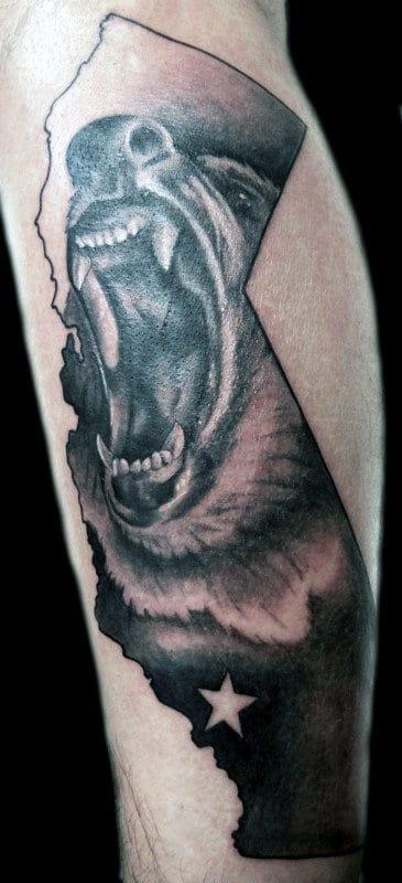 California Forearm Tattoo : california, forearm, tattoo, California, Tattoo, Designs, Grizzly, Ideas