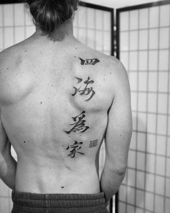 chinese symbol tattoos men