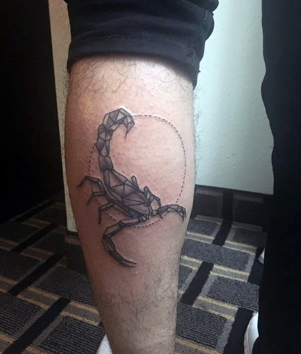 Minimalist Scorpion Tattoo