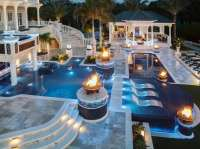 Top 60 Best Pool Lighting Ideas - Underwater LED Illumination