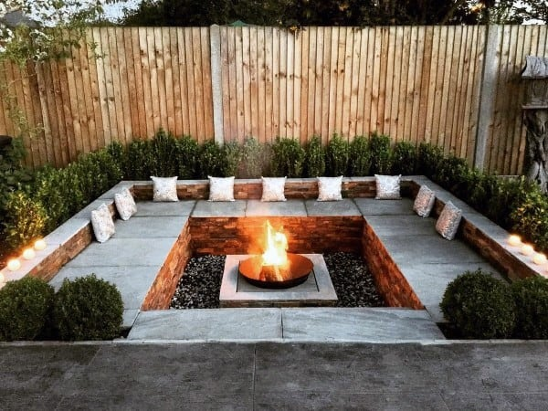 fire pit ideas - heated