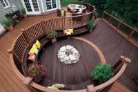 Top 50 Best Deck Fire Pit Ideas