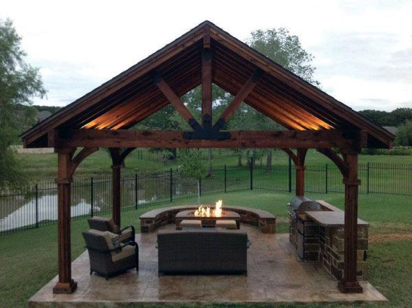 Top 50 Best Backyard Pavilion Ideas Covered Outdoor Structure Designs