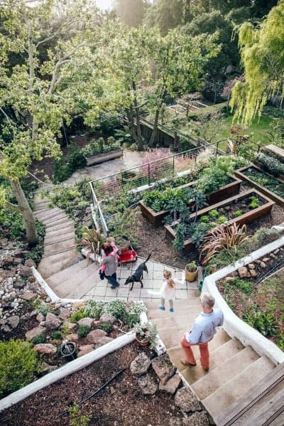 sloping backyard landscape ideas