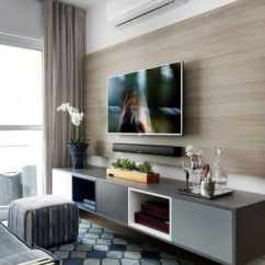 Living Room Wall Ideas With Tv Paint Gray Furniture Top 70 Best Television Designs Obsigen Bamboo Wood Home Walls