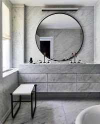 Top 70 Best Bathroom Backsplash Ideas - Sink Wall Designs