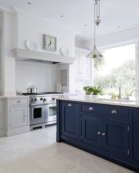 white kitchen floor black and accessories top 60 best flooring ideas cooking space floors beige tile cabinets navy island