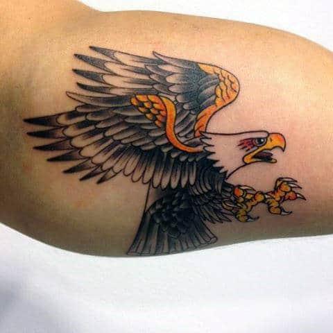 American Traditional Eagle Tattoo Designs