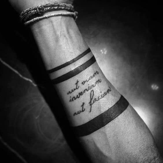 Quote Simple Tattoos For Men On Forearm