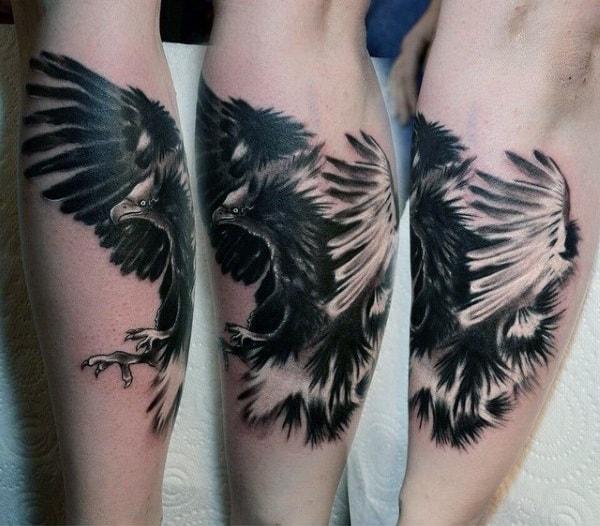 hawk tattoo design men