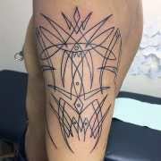 pinstripe tattoos men