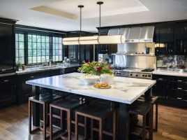 Top 50 Best Black Kitchen Cabinet Ideas   Dark Cabinetry ...