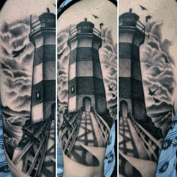American Traditional Lighthouse Tattoo Meaning