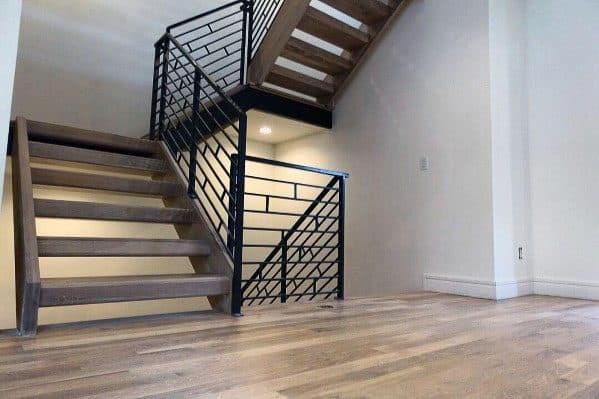 Top 70 Best Stair Railing Ideas Indoor Staircase Designs | Black Metal Stair Railing | Minimalist Simple Stair | Craftsman Style | Brushed Nickel | Rustic | Horizontal