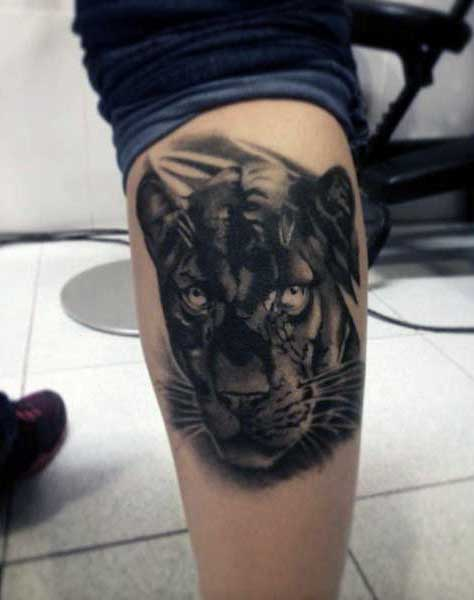 panther tattoo design men