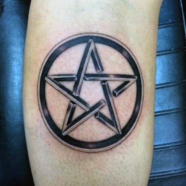 Wiccan Pentagram Tattoo Designs