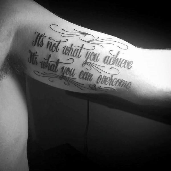 Inner Arm Bicep Tattoos For Men