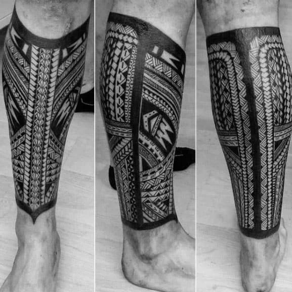 20 Polynesian Leg Band Tattoos For Men Ideas And Designs