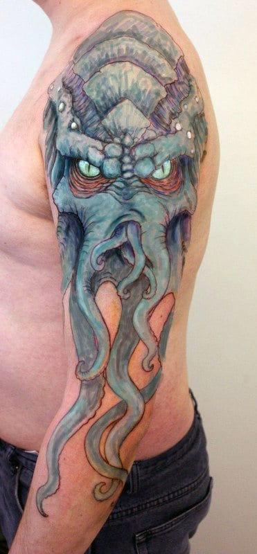 Cthulhu Tattoo Sleeve : cthulhu, tattoo, sleeve, Cthulhu, Tattoo, Designs, Masculine, Ideas