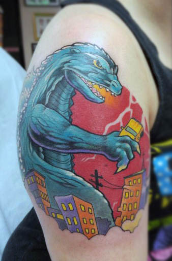 80 Godzilla Tattoo Designs For Men  Awakened Sea Monster Ink