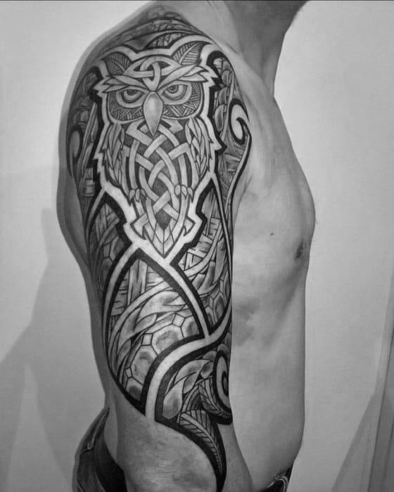 Owl Sleeve Tattoo : sleeve, tattoo, Sleeve, Tattoos, Nocturnal, Design, Ideas