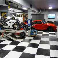 90 Garage Flooring Ideas For Men - Paint, Tiles And Epoxy ...