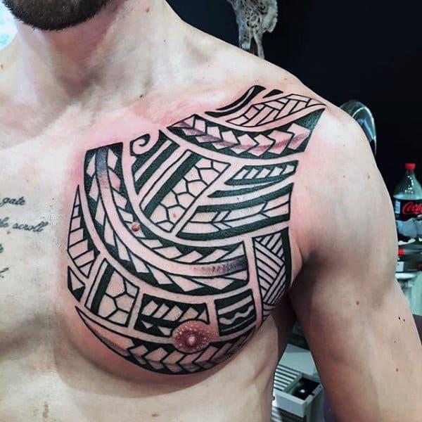 Tribal Simple Tattoo Designs For Men Shoulder