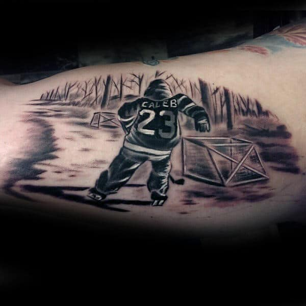 75 Hockey Tattoos For Men NHL Design Ideas