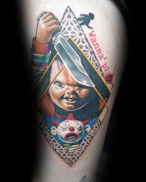 Tattoomanchucky : tattoomanchucky, Chucky, Tattoo, Ideas, Horror, Movie, Designs