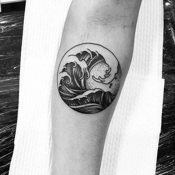 simple wave tattoo design