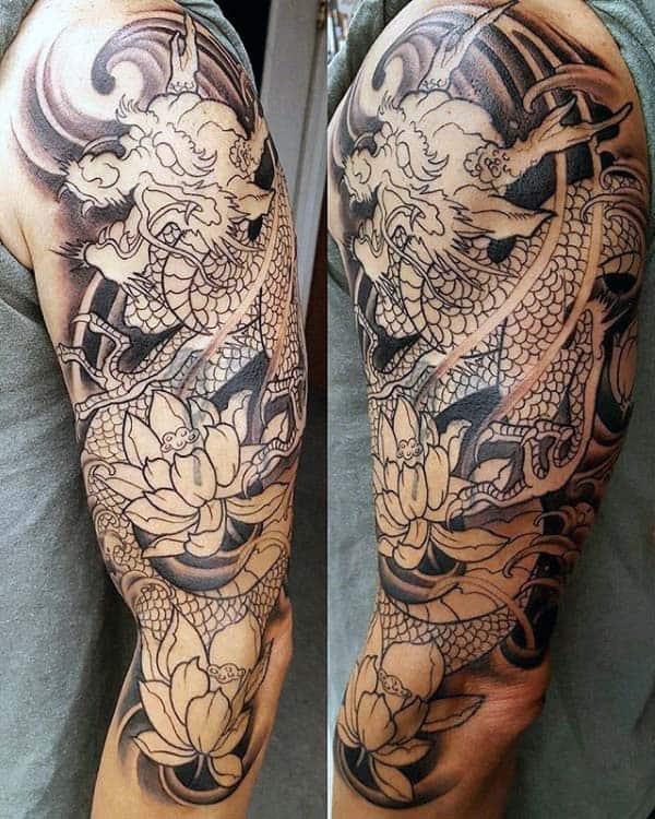 Japanese Dragon Tattoos Sleeves : japanese, dragon, tattoos, sleeves, Japanese, Dragon, Tattoo, Ideas, [2021, Inspiration, Guide]