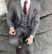 Top 40 Best Charcoal Grey Suit Brown Shoes Styles For Men ...