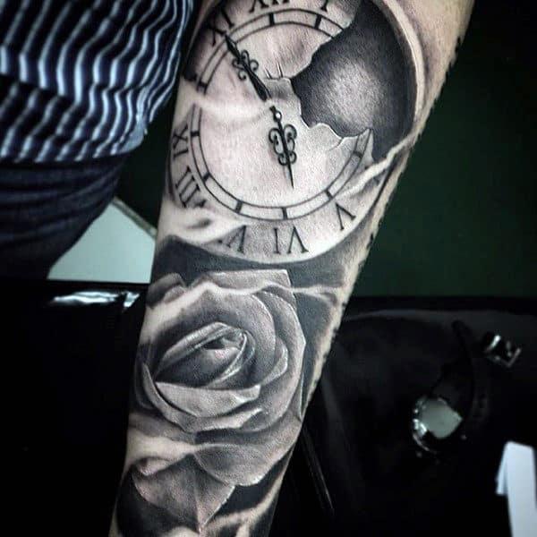 Sleeve Sunflower Forearm Tattoo