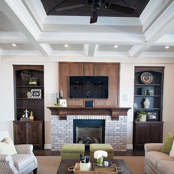 Timeless Fireplace Designs Top 70 Best Crown Molding Ideas - Ceiling Interior Designs