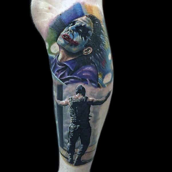 20 Colorful Leg Band Tattoos For Men Ideas And Designs