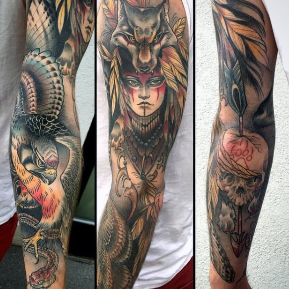20 Native American Tattoos Sleeve Ideas Drawings Ideas And Designs
