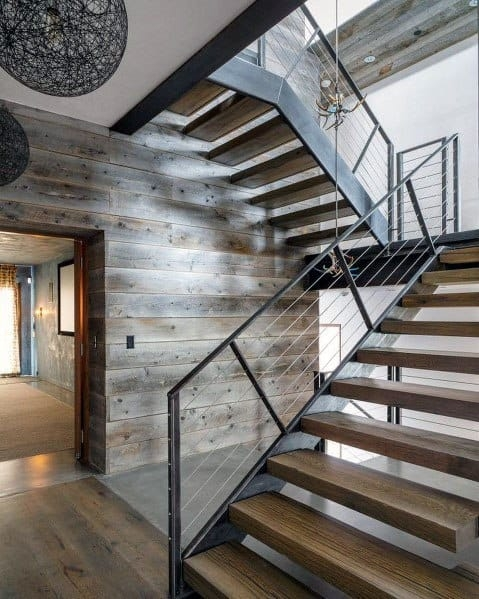 Top 70 Best Stair Railing Ideas Indoor Staircase Designs   Modern Metal Railings Interior   Modern Style   Railing Design   Fancy   Modern Aluminium   Decorative
