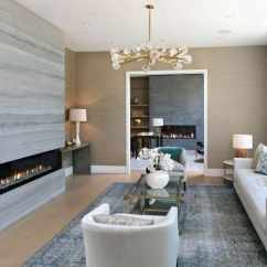 Contemporary Living Rooms With Fireplaces Oversized Round Room Chair Top 60 Best Linear Fireplace Ideas Modern Home Interiors